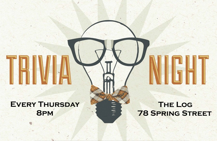 Trivia is ON for Winter Study! Thursdays 8pm at The Log