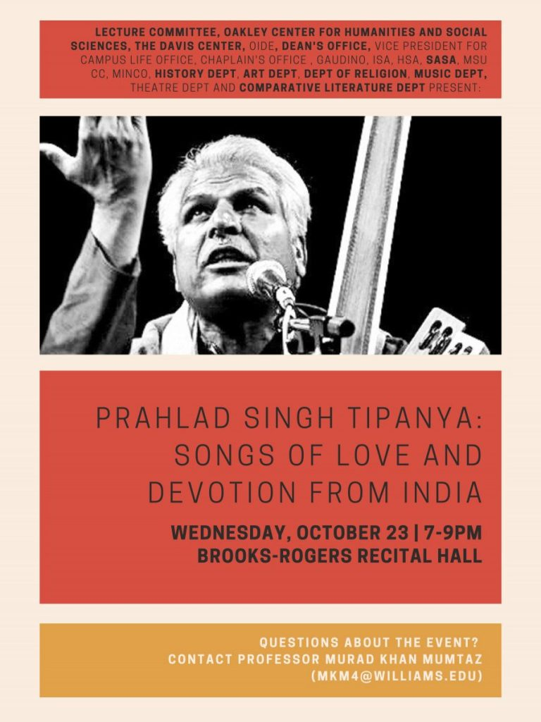 PRAHLAD SINGH TIPANYA: SONGS OF LOVE AND DEVOTION FROM INDIA