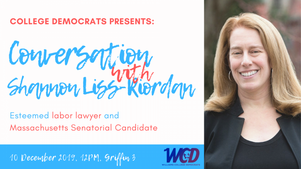 Conversation with Senate Candidate and Labor Lawyer Shannon Liss-Riordan