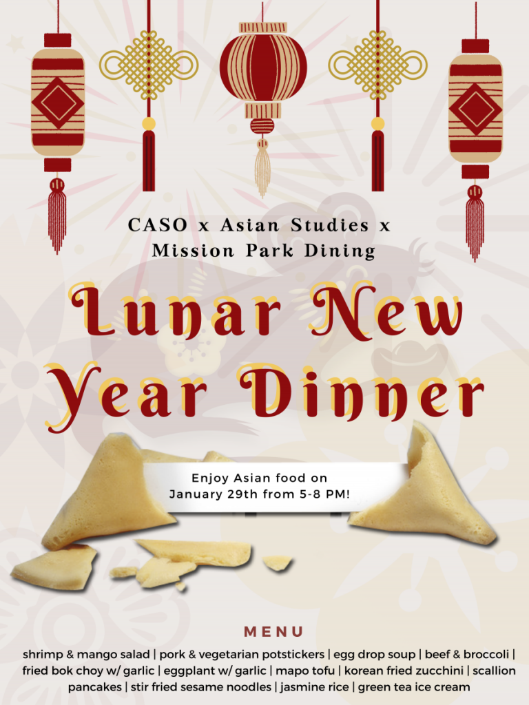 Lunar New Year Dinner, January 29th @ Mission Park