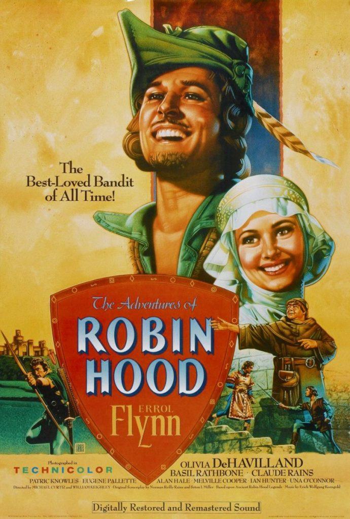 Martial Arts Movies - Robin Hood (Errol Flynn, Basil Rathbone) - Paresky Auditorium Sunday 7pm