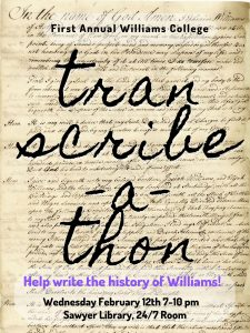 Help write the history of Williams College