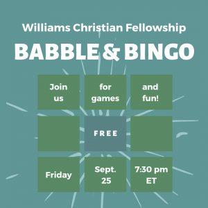 WCF Babble and Bingo Night!!!