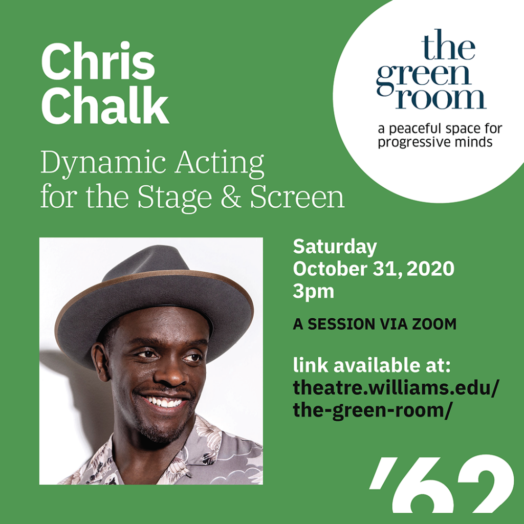 The Green Room with Chris Chalk: TV, Film, and Theatre Actor; nominated for Drama Desk Award for Outstanding Featured Actor in a Play