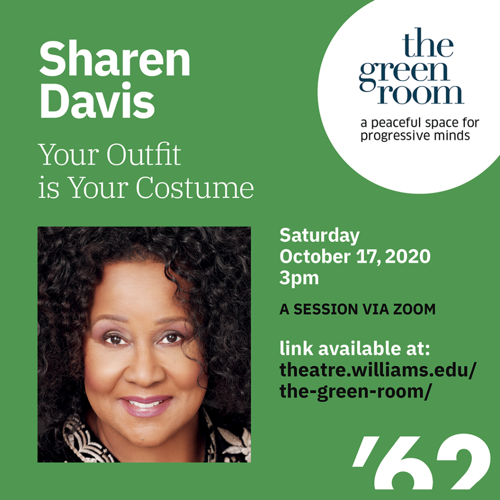 "The Green Room with Sharen Davis, two-time Oscar and Emmy-nominated Costume Designer for ""Ray"" and  ""Dreamgirls"""