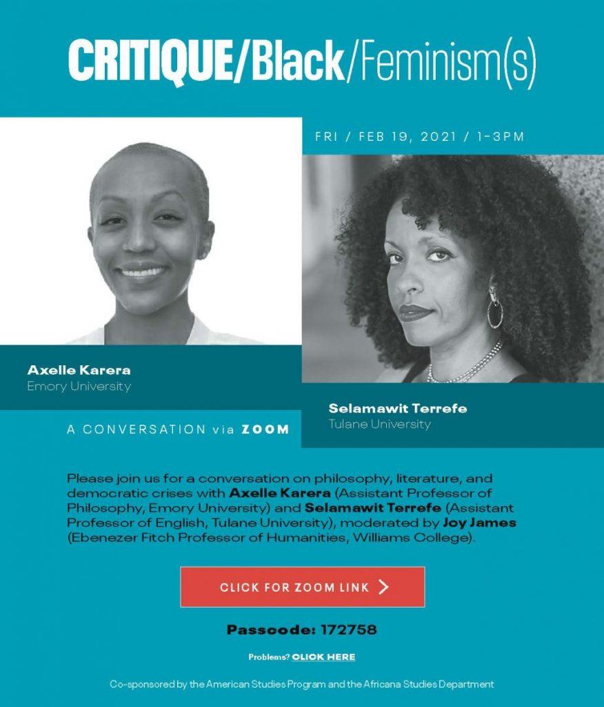 Critique/Black/Feminism(s)