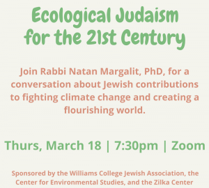 Ecological Judaism for the 21st Century