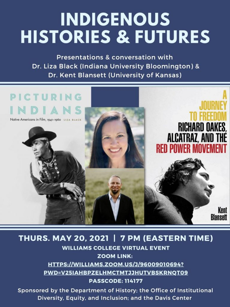 Indigenous Histories & Futures: Presentations & Conversation with Drs. Liza Black and Kent Blansett