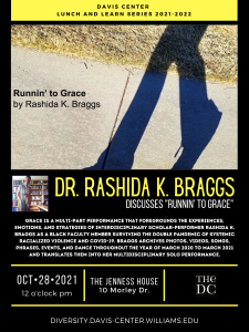 "Lunch & Learn: ""Runnin' To Grace"" with Dr. Rashida K. Braggs and the Davis Center"